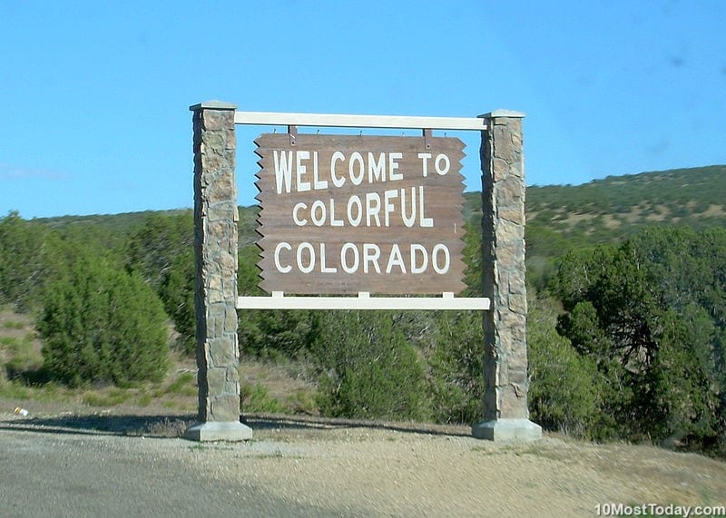 Largest States In The United States: 8th place: Colorado