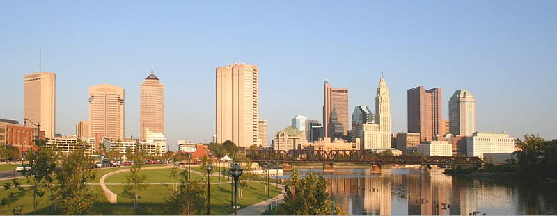 The skyline of Columbus, Ohio
