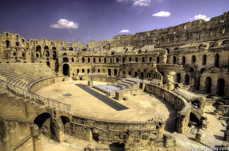 Most Beautiful Roman Amphitheaters: El Djem Amphitheater