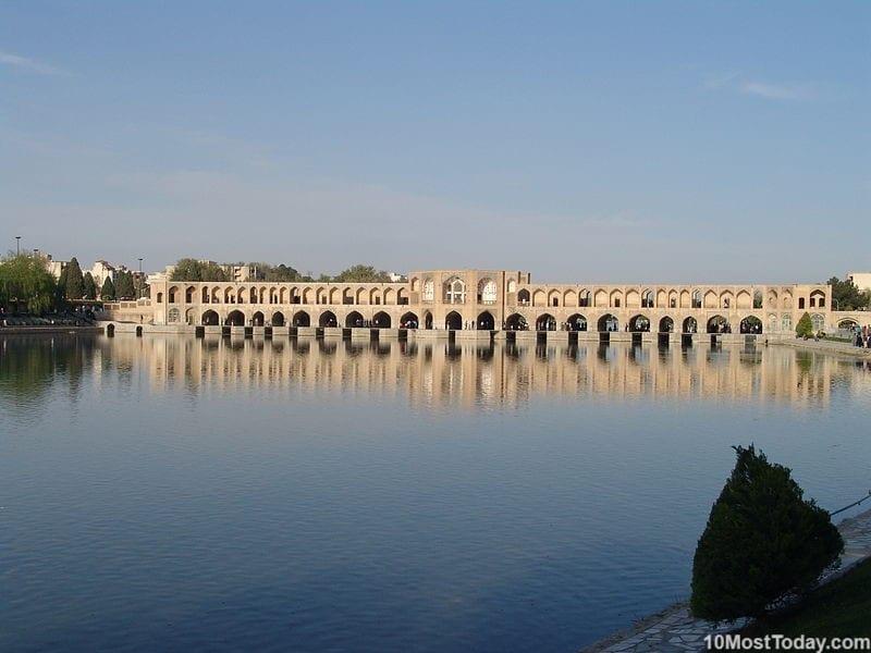Most Beautiful Stone Bridges In The World: Khaju Bridge, Isfahan, Iran