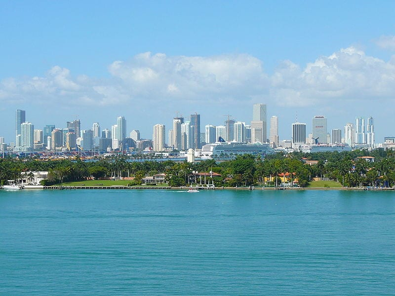Miami, Florida - Florida is the 4th largest state by population