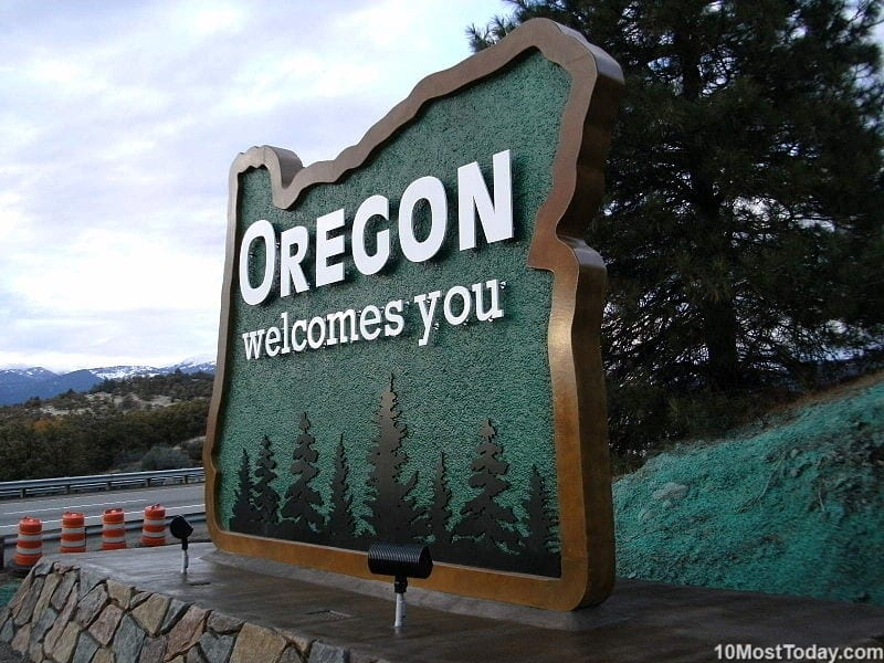Largest States In The United States: 9th place: Oregon