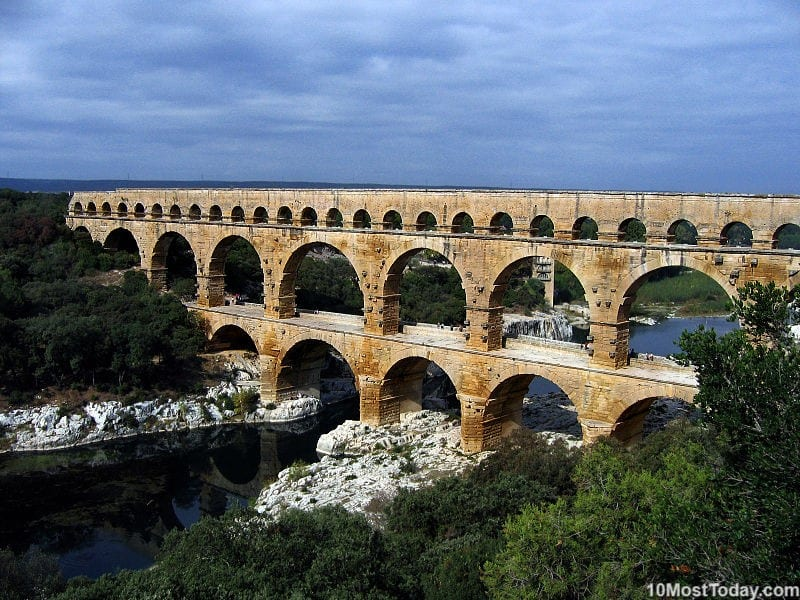 Most Beautiful Roman Aqueducts: Pont du Gard