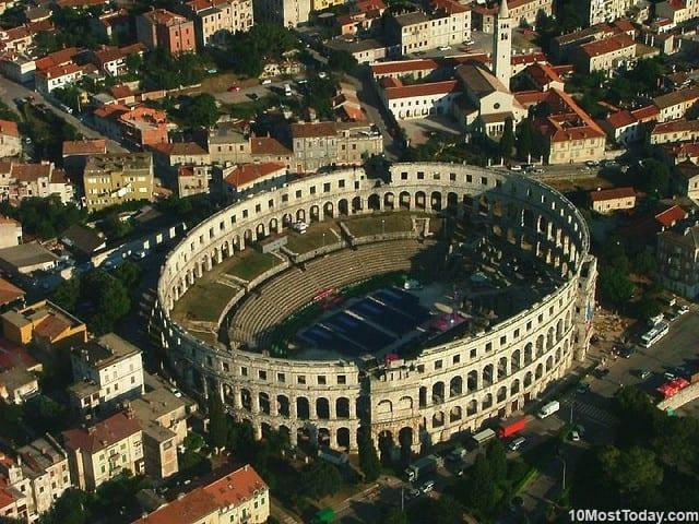 Most Beautiful Roman Amphitheaters: Pula Arena