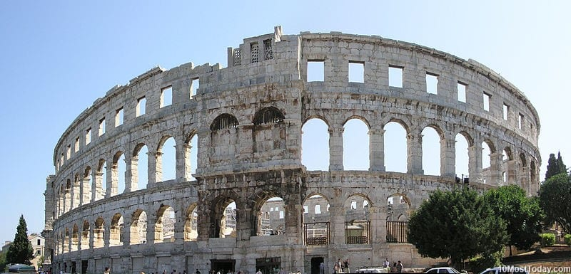 Most Beautiful Roman Amphitheaters: Pula Arena