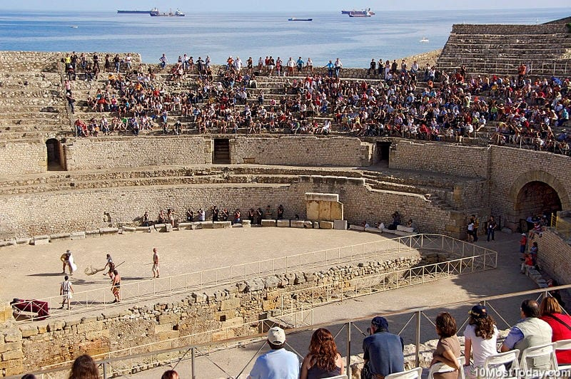 Most Beautiful Roman Amphitheaters: Tarragona Amphitheater