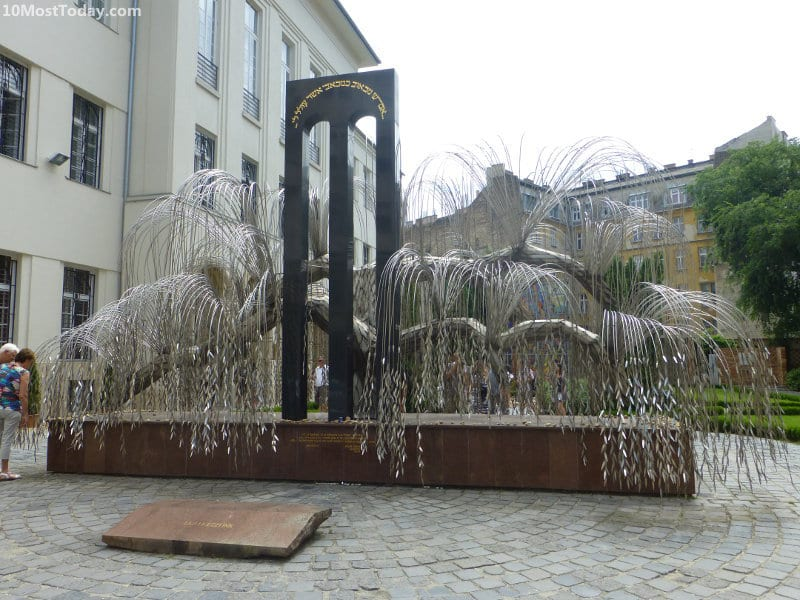The memorial of the synagogue