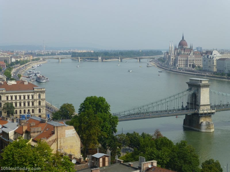 The view from the top of the Budapest Castle Hill