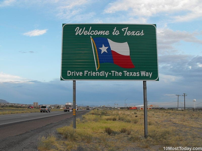 Texas - second largest state in the USA