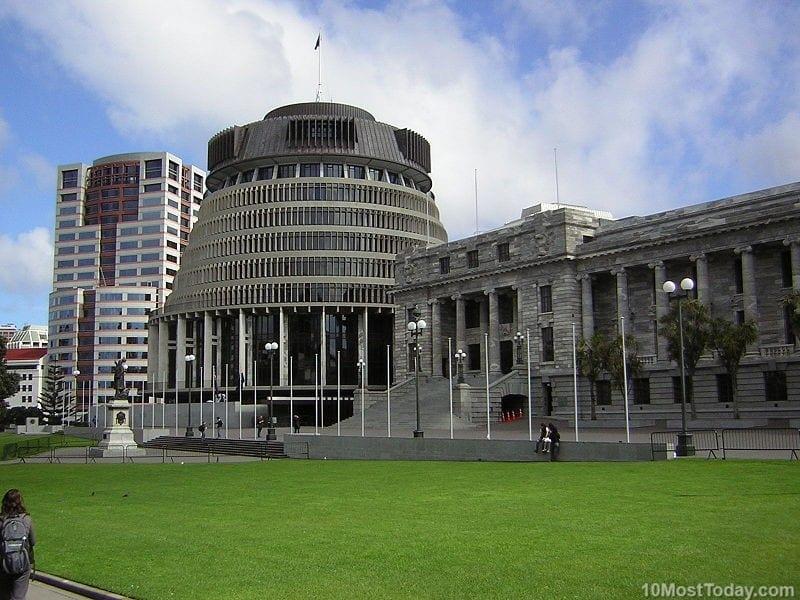 Most Beautiful Parliament Buildings: Beehive, Wellington, New Zealand