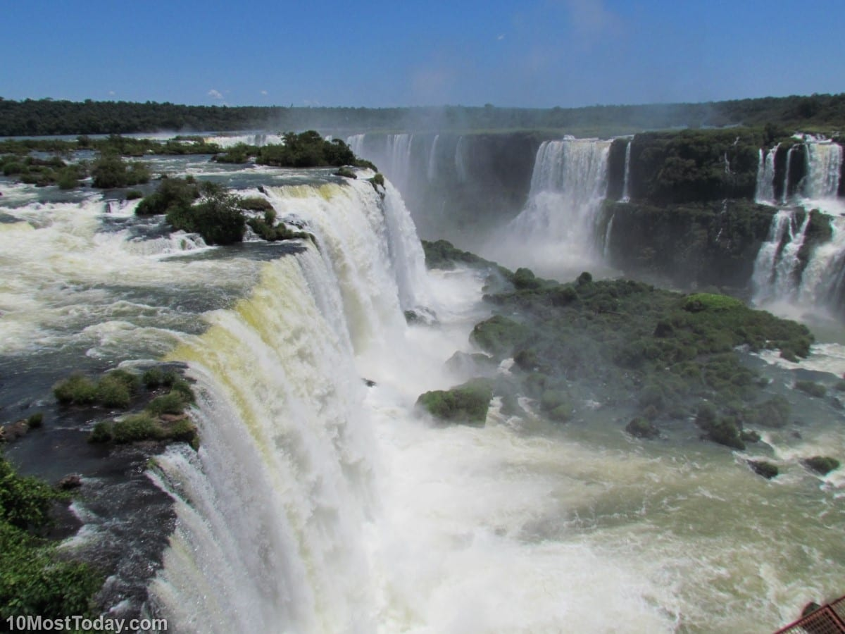 The Iguazu (Iguaçu) Falls - a natural world heritage site in both Brazil and Argentina