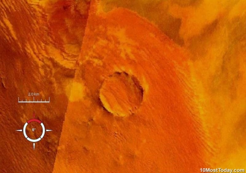 10 Most Incredible Impact Craters: Roter Kamm Crater