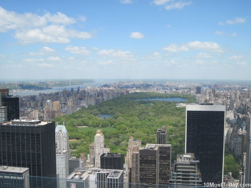 Best Attractions In New York: Central Park, seen from GE Building