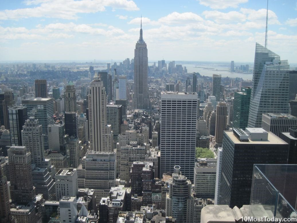 Best Attractions In New York: Manhattan Skyline, seen from GE Building