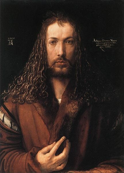 "Albrecht Dürer - ""Self-portrait"""