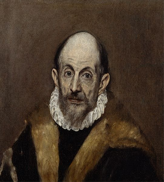 "El Greco - ""Portrait of a man"""
