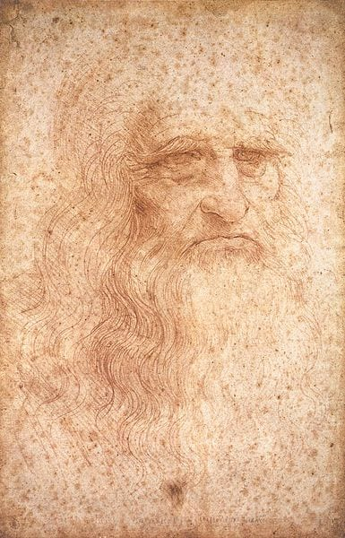 "Leonardo da Vinci - ""Portrait of a man in red chalk"""