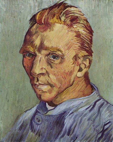 "Vincent van Gogh - ""Self-portrait without beard"""