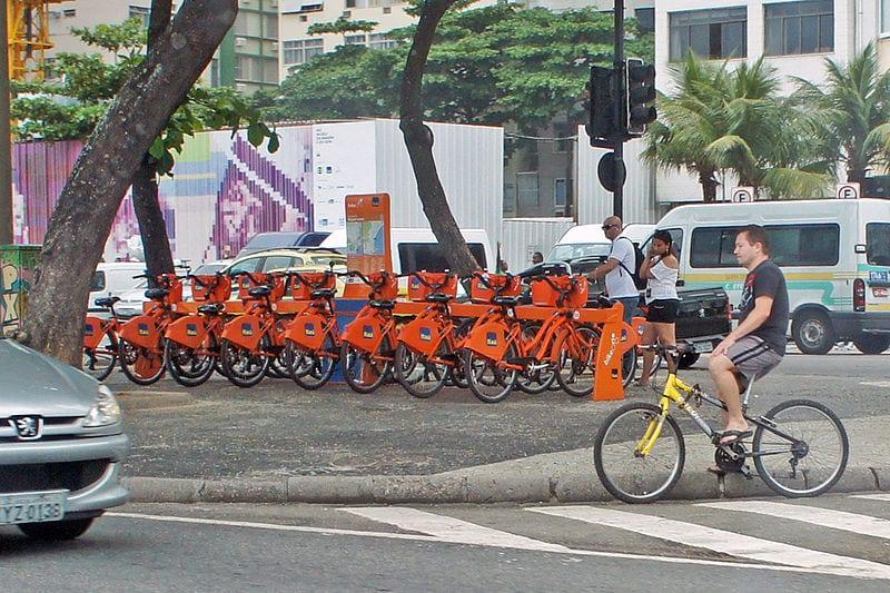 Bike Rio station. Rio de Janeiro is a bike-friendly city