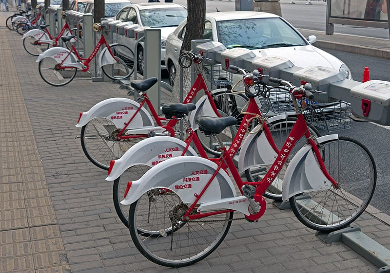 Bicycle sharing network in Beijing