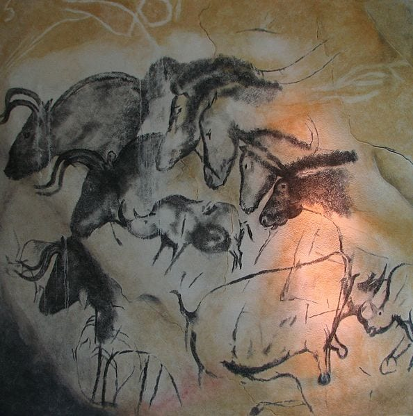 A replica of the Chauvet Cave drawings in the Anthropos museum, Czech Republic