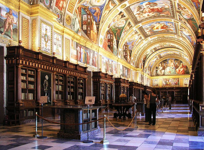 Most Beautiful Libraries: The Library of El Escorial