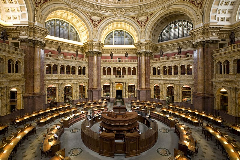 Main Reading Room in the Thomas Jefferson Building (Washington D.C.)