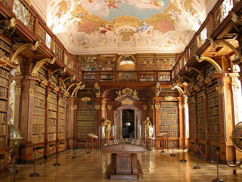 Most Beautiful Libraries: Melk Abbey Library