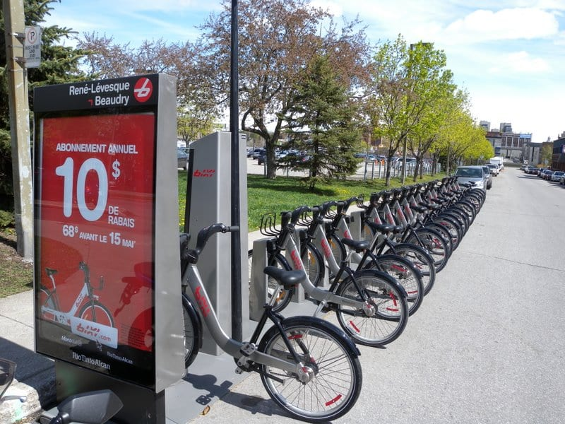 Montreal -  a bicycle friendly city