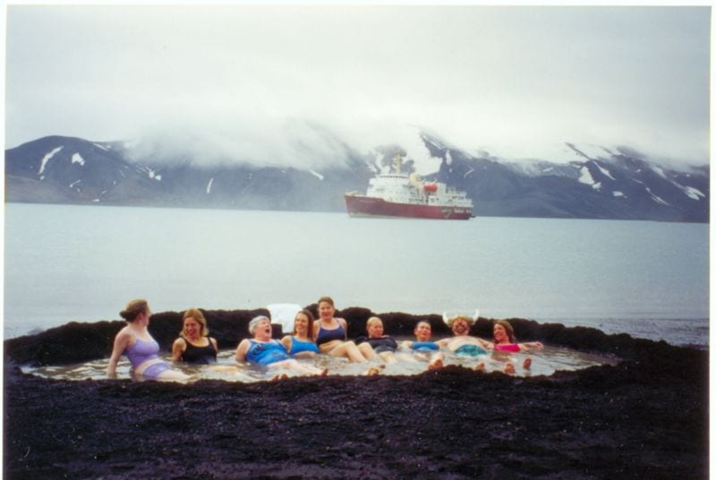 Deception Island, Antarctica - contains many hot springs