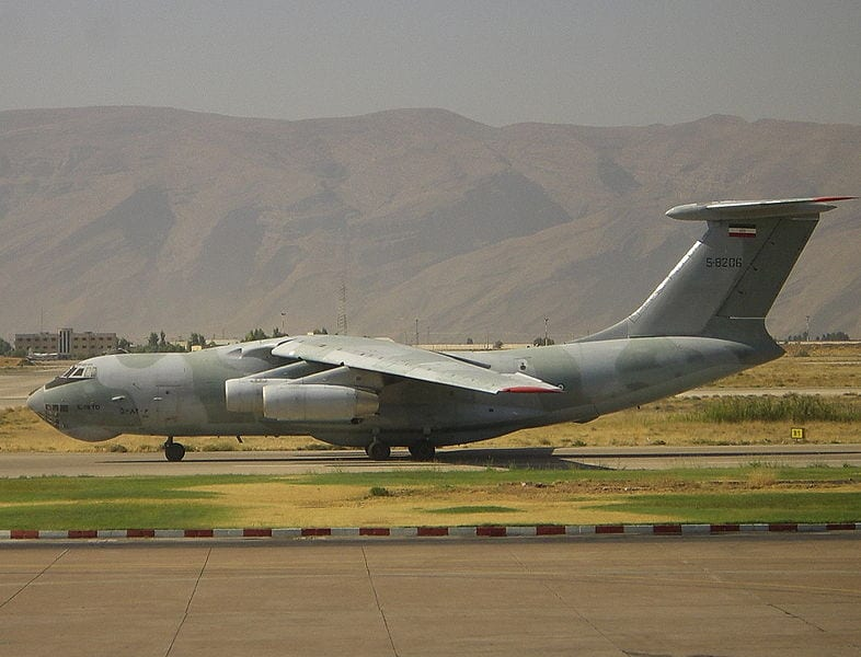 An Ilyushin Il-76 similar to the one that crash