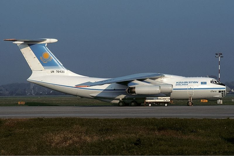 The Kazakhstan Airlines aircraft in 1994, two years before the accident