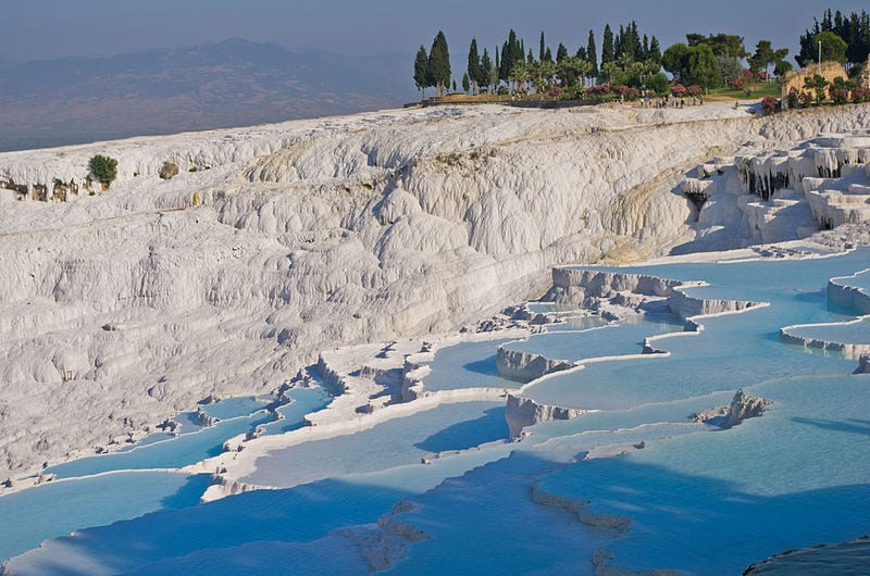 Great Hot Springs You Can Bathe In:  Pamukkale Hot Springs, Turkey
