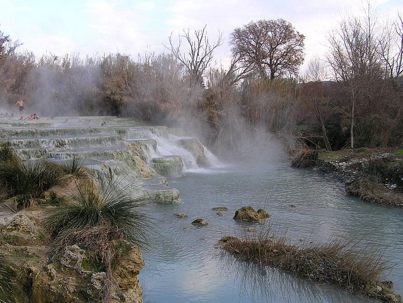 Great Hot Springs You Can Bathe In: Terme di Saturinia, Italy