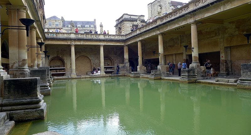 Great Hot Springs You Can Bathe In: The Roman Baths, Bath, England