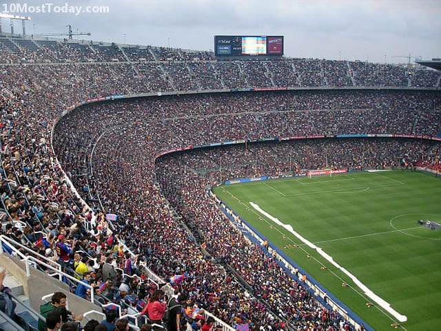 Largest Stadiums In Europe: Camp Nou, Barcelona
