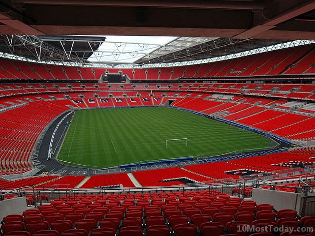 Largest Stadiums In Europe: Wembley Stadium, London