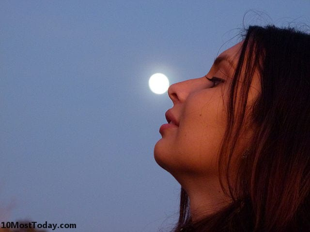 Forced perspective photos with the Moon