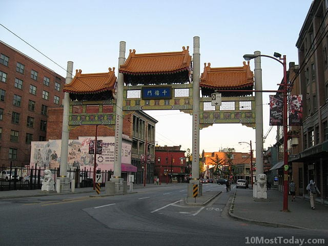 Millennium Gate on Pender Street in the Chinatown of Vancouver
