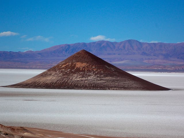 The Cono de Arita in Salar de Arizaro, Argentina