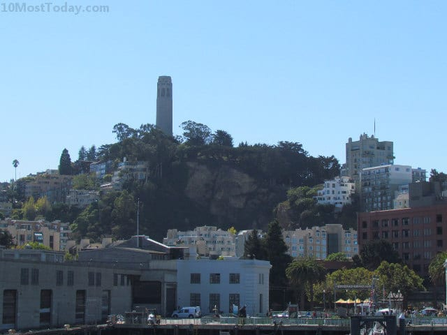 Best Attractions In San Francisco: Coit Tower (seen from the bay)