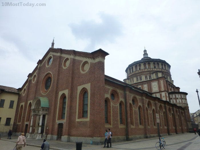 "The Santa Maria delle Grazie, home to ""The Last Supper"" by Leonardo da Vinci, Milan, Italy"