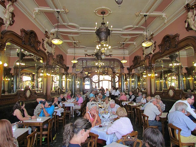 Interior of the Café Majestic, Porto