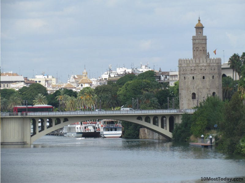 Best Attractions In Seville: Torre del Oro and Guadalquivir River