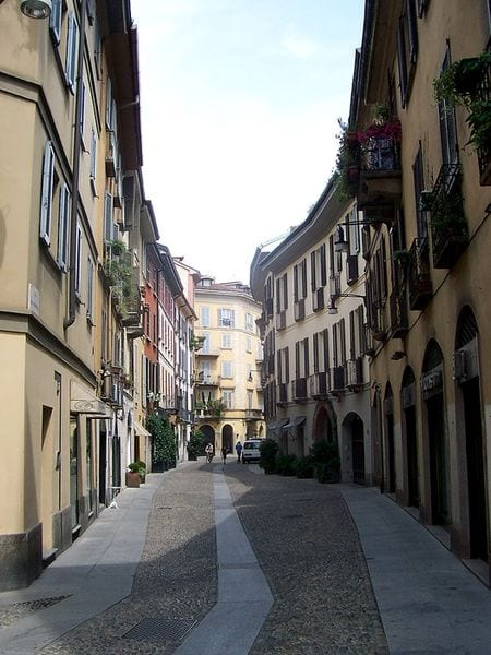 Via Madonnina - one of the main streets of Brera district