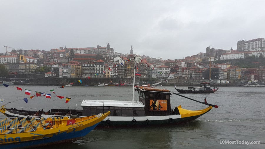 Best Attractions In Porto: The view from the Cais De Gaia to the Douro and the Ribeira
