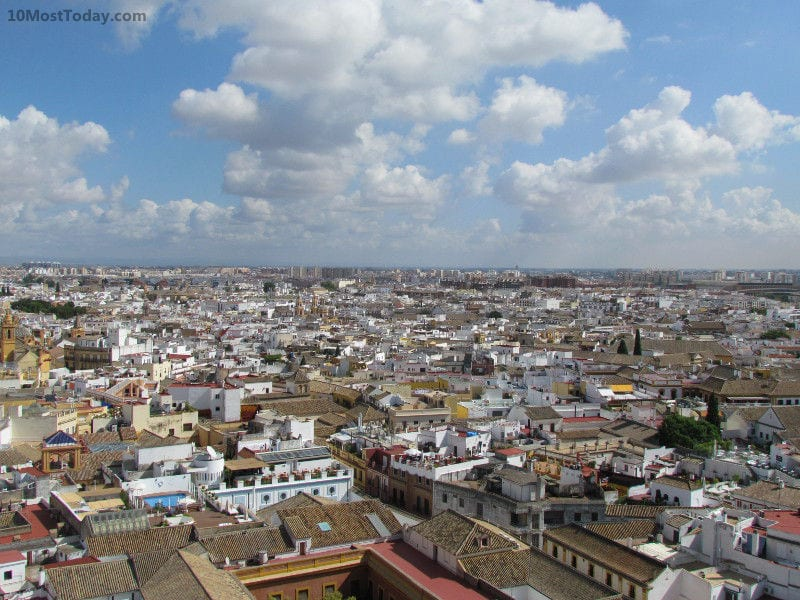 A panoramic view of Seville from La Giralda