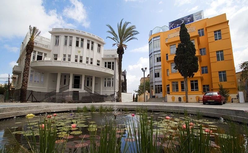Bialik Square in Tel Aviv, an example of Bauhaus Architecture