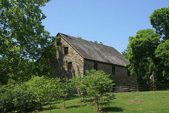 The reconstructed George Washington Gristmill at Mount Vernon