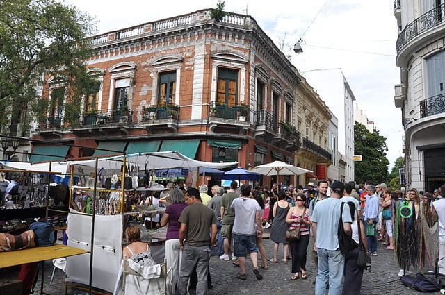 Best Attractions In Buenos Aires: San Telmo Fair at Plaza Dorrego